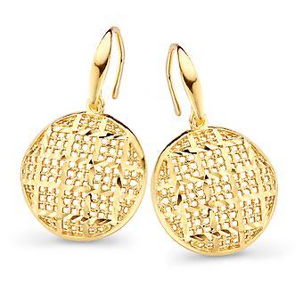 Orphelia Silver 925 Earring Gold Circle  ZO-7189/G
