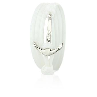 Skipper anchor bracelet bracelet in white nylon with silver anchor 6630