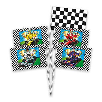 Flag flag hand flag formula one kids party birthday 8 pieces