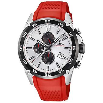 Festina Mens Originals Tour Of Britain 2017 Red rubber strap F20330/1 Watch