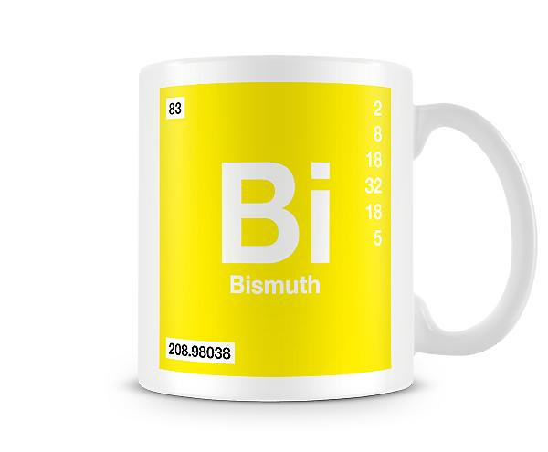 Element Symbol 083 Bi - Bismuth Printed Mug