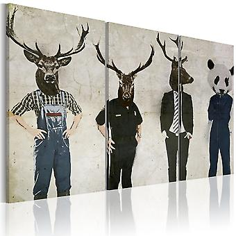 Canvas Print - Humans are also animals