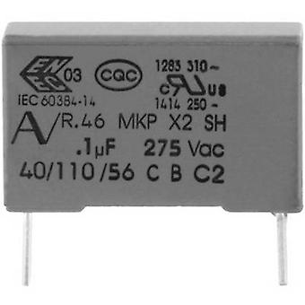 Kemet R46KR410000M1M+ MKP suppression capacitor Radial lead 1 µF 275 V 20 % 27.5 mm (L x W x H) 32 x 11 x 20 1 pc(s)