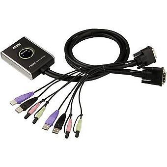 ATEN CS682-AT 2 puertos KVM conmutador DVI USB 1920 x 1200 pix