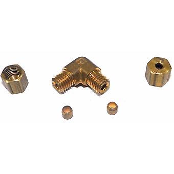 Big A Service Line 3-165200 Brass Pipe, 90 deg Street Elbow Fitting 1/8