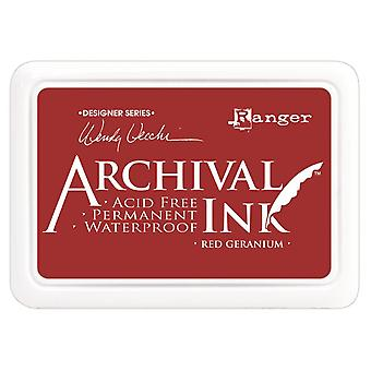 Wendy Vecchi Designer Series Archival Ink Pad-Red Geranium