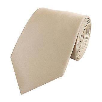 Zawiązać krawat krawat krawat szerokości 8cm beżowy brązowy zwykły Fabio Farini