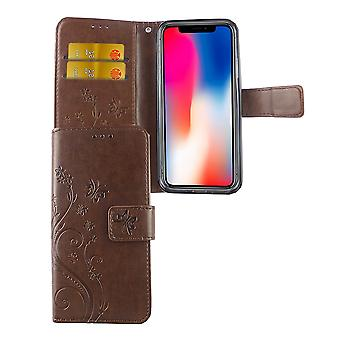 Protective cover flowers for phone Apple iPhone X coffee