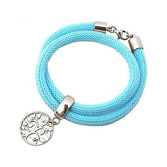 -Bracelet - bracelet - 925 Silver - tree of life - blue