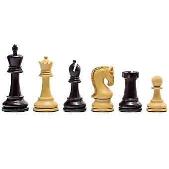 Leningrad Series Ebonised Chess Men 4 inch