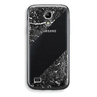 Samsung Galaxy S4 Mini Transparent Case - Black marble