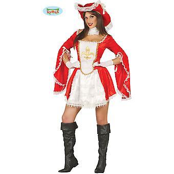 Sexy musketier kostuum jurk dames carnaval-Middeleeuwen