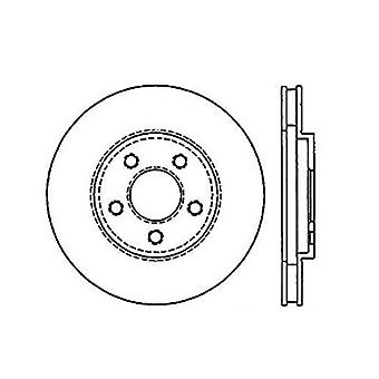 StopTech 128.63017R Sport Cross Drilled Brake Rotor; Front Right