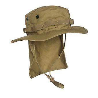 Mil-Tec British Coyote Rip-Stop Boonie With Neck Flap