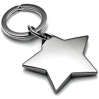 David Van Hagen Star Keyring - Silver