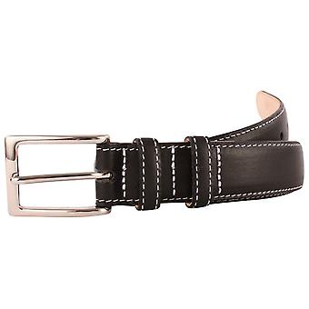 Bassin and Brown Leather Belt - Black