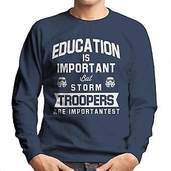 Original Stormtrooper-Bildung ist wichtig Herren Sweatshirt