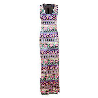 Nya damer Leopard Funky frukt skriva ut mång-färga Maxi Bodycon kvinnors klänning