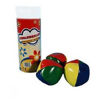3 duże piłki żonglerka w tubie
