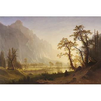 Sunris, Yosemite долине, Альберт Бирстадт, 40x60cm с лотка
