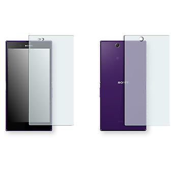 Sony Xperia C6833 screen protector - Golebo crystal-clear protector (1 front / 1 rear)