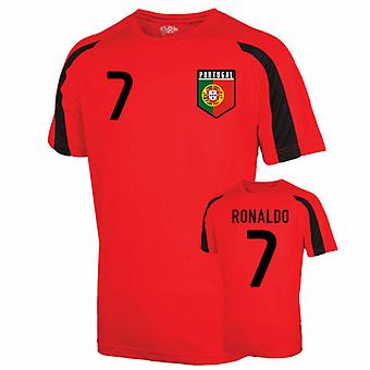 Portugal Sport Training Jersey (ronaldo 7) - Kids