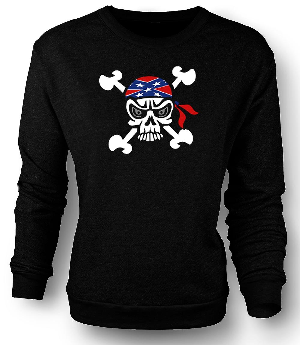 Mens Sweatshirt Skull with Bandana & Cross Bones