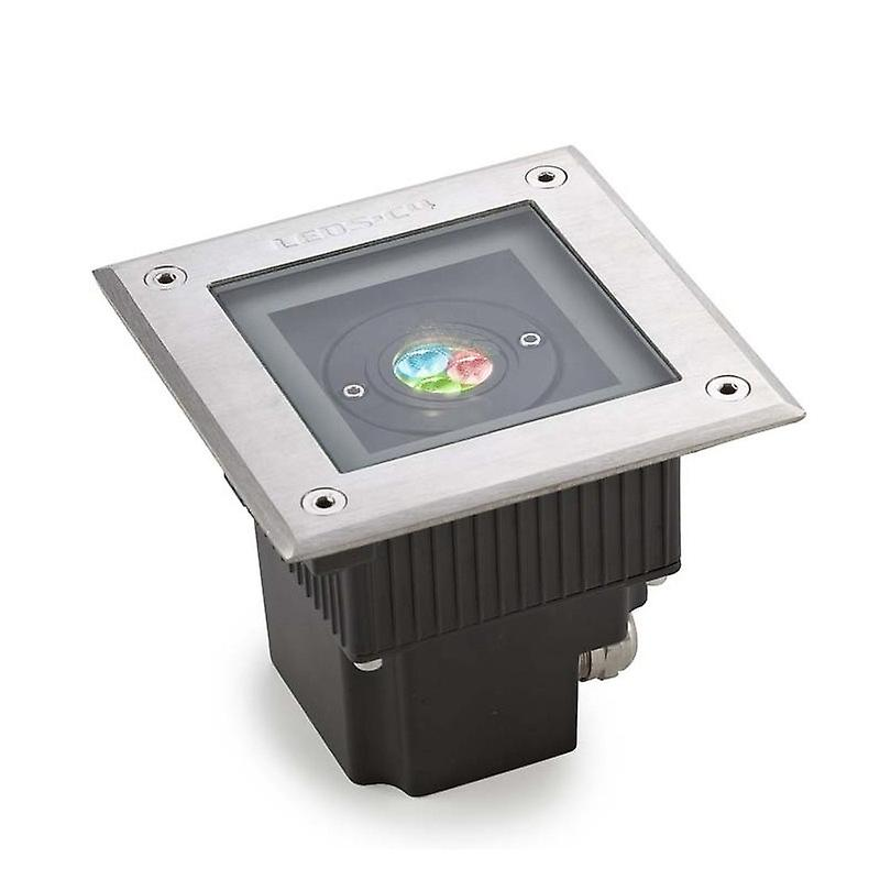 Led Square Outdoor Rgb Easy+ Recessed Light Stainless Steel Ip67