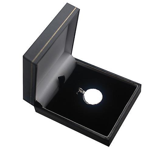 Silber 20mm runden Diamanten Schnittkante Disc
