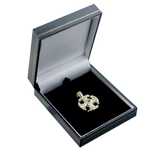 9ct Gold 21mm fancy Cross