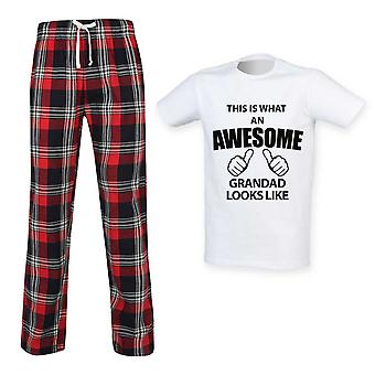 This Is What An Awesome Grandad Looks Like Tartan Pyjamas