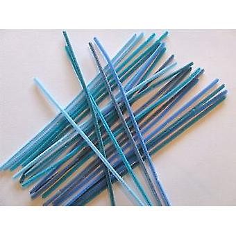 25 Shades of Blue Chenille Pipe Cleaners | Chenille Stems