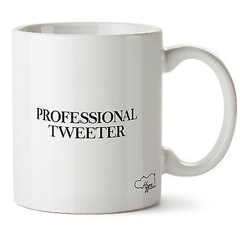 Hippowarehouse Professional Tweeter tryckt mugg kopp keramik 10oz