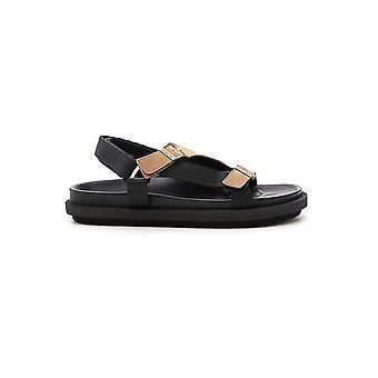 Sacai Beige/black Rubber Sandals