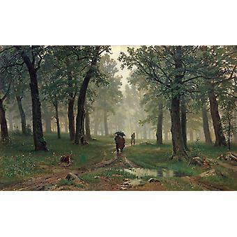 Rain in an Oak Forest,Ivan Shishkin,60x37cm