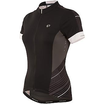 Pearl Izumi Black Stripemoonlight Elite Pursuit Womens Short Sleeved Cycling Jer
