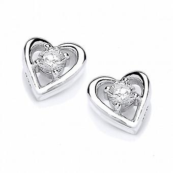 Cavendish French Simple Little Heart Stud Earrings