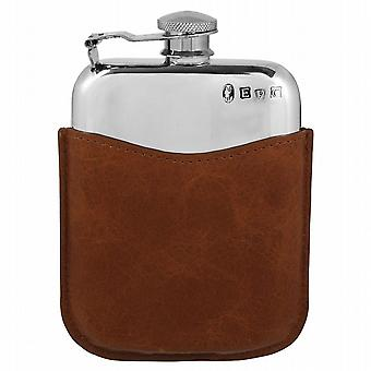 6oz Purse Flask Captive Top & Pouch - Plf02