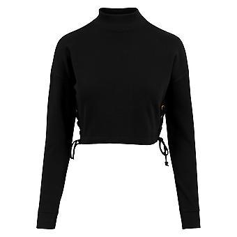 Urban Classics Damen Sweatshirt Lace Up Crewneck