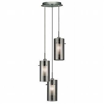 2300-3SM Duo 2 Multi-drop 3 Light Ceiling Pendant with Cylinder Shades