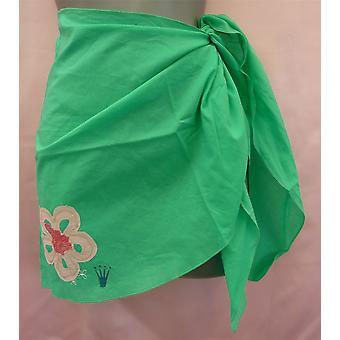 Triumph Miss Samoa Pareo Green Sarongs Style Short Skirt One Size