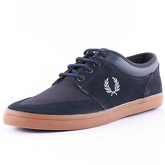 Stratford gamuza cuero instructores B6288-608 Fred Perry hombres