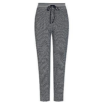 Mey Women 16961-408 Women's Night2Day Isi Night Blue Geometric Print Cotton Pyjama Pant