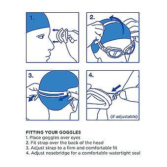 Zoggs zwembrillen Phantom Kids masker met UV-bescherming en anti-mist in groen/blauw/tint-0-6 jaar