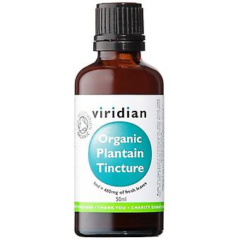 Viridian 100% Organic Plantain Tincture 50ml (611)