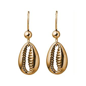 Gemshine Maritim earrings Kauri shell 925 silver, gold plated or rose