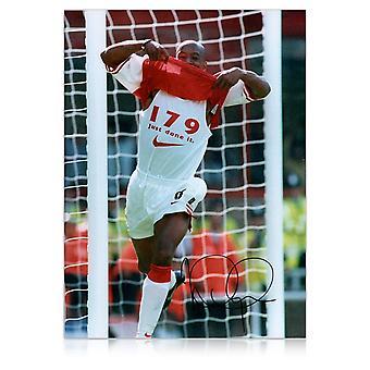 Ian Wright Signed Arsenal Photo: 179 Goals