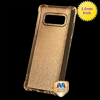 MYBAT Transparent Gold Sheer Glitter Premium Candy Skin Cover  for Galaxy Note 8