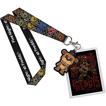 Five Nights at Freddy's Freddy US Lanyard with Backer Card