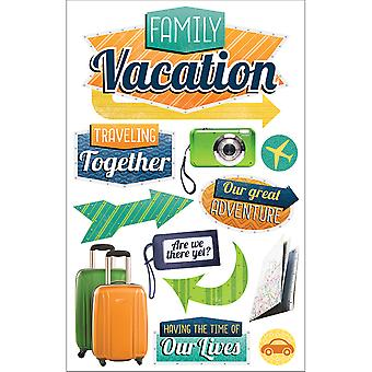 Paper House 3D Stickers-Family Vacation STDM234E